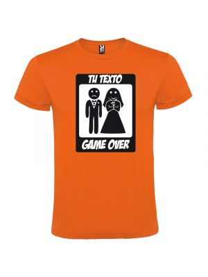Camisetas despedida hombre manga corta game over 100% algodón vista 1