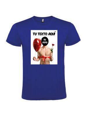Camisetas despedida hombre para despedidas con diseño de globo y flor 100% algodón con logo vista 1