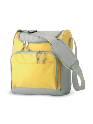 Picnic zipper bolsa nevera bolsillo frontal de poliéster con impresión imagen 1