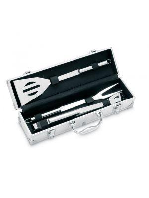 Barbacoa asador set de barbacoa asador. 3 pzas de metal con impresión imagen 2