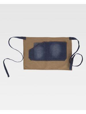 Delantales de hostelería workteam m721 de 100% algodón para personalizar vista 1