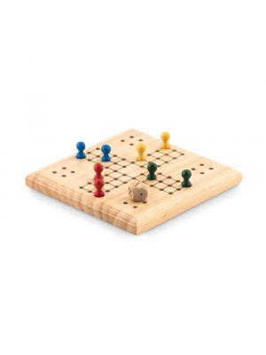 Barajas y juegos de mesa ludo juego de viaje de madera de varios materiales con impresión vista 1