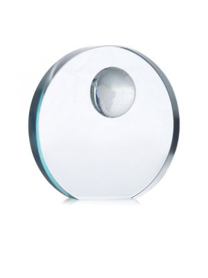 Material oficina mondal trofeo esfera cristal de cristal con impresión imagen 2