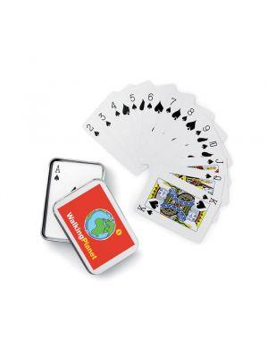 Barajas y juegos de mesa amigo juego de cartas caja metal de tin para personalizar imagen 2