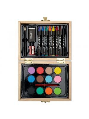 Pinturas colorear beau de madera vista 1