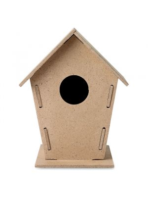 Jardinería woohouse caseta aglomerado para pájaros de madera vista 1