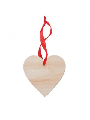 Navidad wooheart colgador en forma de corazón de madera vista 1