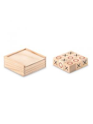 Aniversarios tic tac toe juego tres en raya de madera de madera con impresión imagen 2