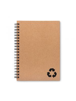 Cuadernos con anillas piedra de papel ecológico con impresión vista 1