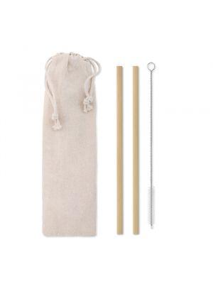 Cocktail natural straw pajita bambú cepillo funda de varios materiales ecológico para personalizar imagen 2