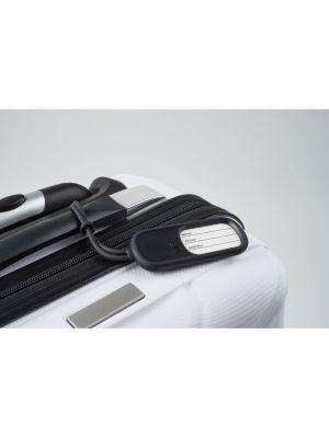 Identificadores de maletas record de varios materiales con publicidad vista 1