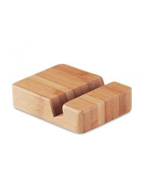 Soportes móviles apoya de bambú ecológico con logo imagen 2