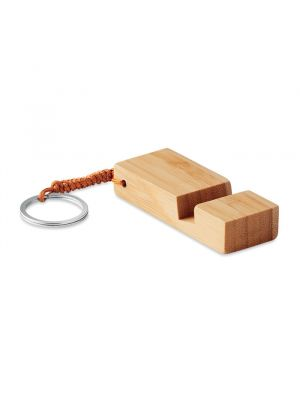 Soportes móviles trineu de bambú ecológico con logo imagen 2