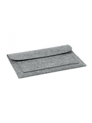 Portadocumentos básicos pouchlo de fleece con publicidad vista 1