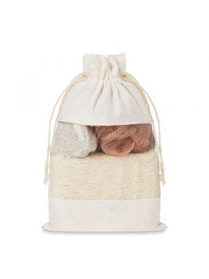 Higiene cuida set set de baño en bolsa jute de varios materiales vista 1