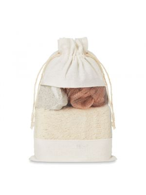 Higiene cuida set set de baño en bolsa jute de varios materiales imagen 1