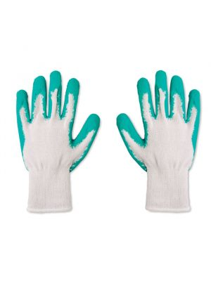 Jardinería jardinero set de 2 guantes de jardín de 100% algodón con impresión vista 1
