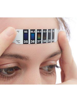 Seguridad covid fever indicator indicador de fiebre de un solo de pet con impresión imagen 1