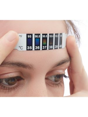 Seguridad covid fever indicator indicador de fiebre de un solo de pet para personalizar vista 1