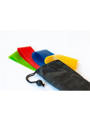 Fitness fitband set de 4 bandas de fitnesss tpe de varios materiales para personalizar vista 1