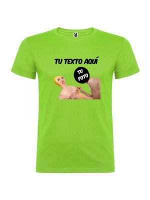 Camisetas despedida hombre para fiestas con diseño de muñeca hinchable troquelado 100% algodón vista 1