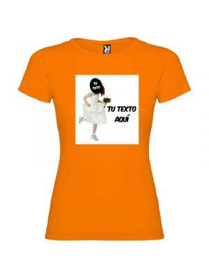 Camisetas despedida mujer de despedida de soltera novia a la fuga con tu foto 100% algodón con impresión vista 1