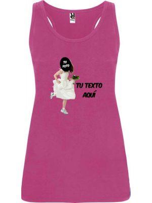 camiseta de tirantes de despedida novia corriendo para mujer en color vista 1
