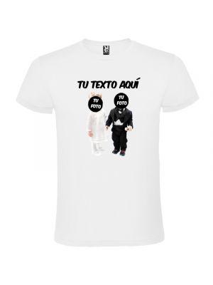 Camisetas despedida hombre blanca de despedida en manga corta con diseño de n 100% algodón vista 1
