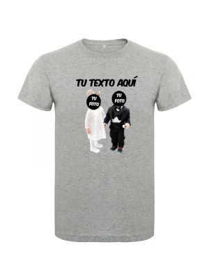 Camisetas despedida hombre con diseño de novios bebés sin fondo 100% algodón imagen 1
