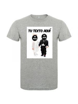 Camisetas despedida hombre de despedida en manga corta con diseño de novios bebes 100% algodón para personalizar imagen 1