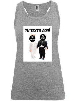 Camisetas despedida mujer de tirantes de despedida novios bebés 100% algodón con impresión imagen 1