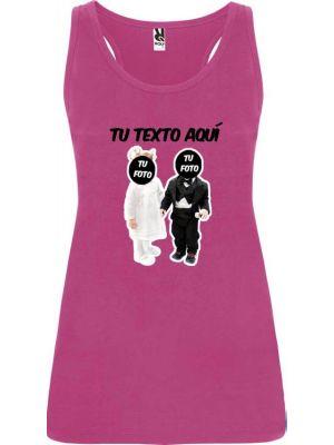 camiseta de tirantes de despedida novios bebés troquelado para mujer en color para personalizar vista 1