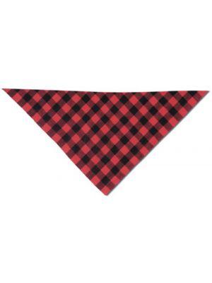 Cachirulos cachirulo rojo y negro 70x100 de algodon para personalizar vista 1