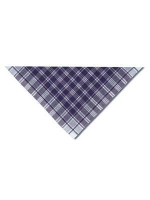 Hierbas & falleros hierbas triangular de cuadros azul de 100% algodón con publicidad imagen 1