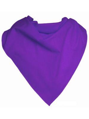 Pañuelos lisos triangular popelín 70x100 de algodon con logo imagen 1