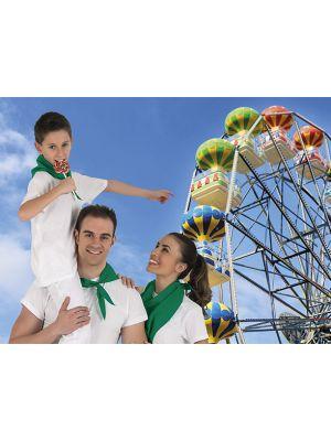 Pañuelos lisos valento fiesta k de poliéster para publicidad vista 1