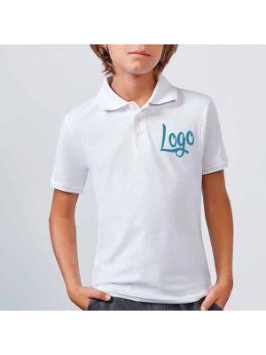 Polos manga corta roly star niño de 100% algodón con logo vista 1