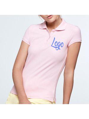 Polos manga corta roly star mujer de 100% algodón con logotipo imagen 2