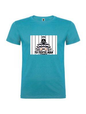 Camisetas despedida hombre con imagen de presidiario 100% algodón vista 1