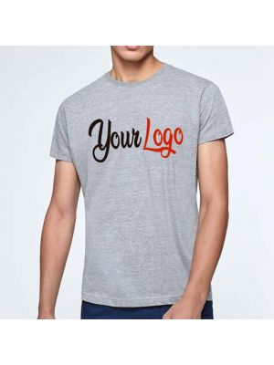 Camisetas manga corta roly atomic 150 de 100% algodón con logo vista 2