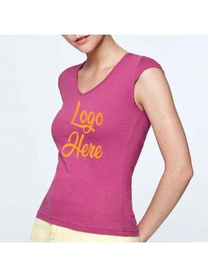 Camisetas manga corta roly martinica mujer de 100% algodón para personalizar imagen 2