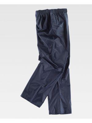 Pantalones de trabajo workteam s2014 de poliéster con logo imagen 2