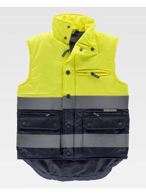 Chalecos reflectantes personalizados workteam s4035 de poliéster con impresión vista 2