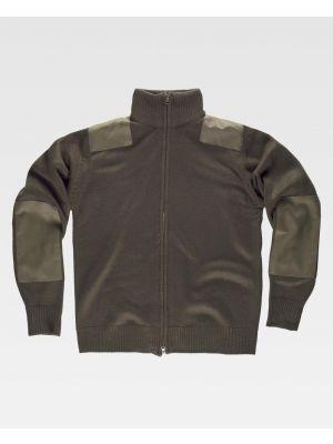 Chaquetas y cazadoras de trabajo workteam chaqueta cuello alto punto grueso de acrílico con logo imagen 1
