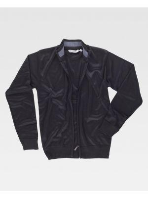 Chaquetas y cazadoras de trabajo workteam chaqueta cuello alto punto fino de poliéster con impresión imagen 1