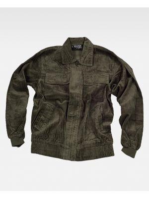 Chaquetas y cazadoras de trabajo workteam cazadora de pana de 100% algodón con impresión imagen 1