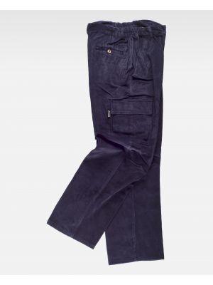 Pantalones de trabajo workteam s7014 de 100% algodón con impresión vista 1