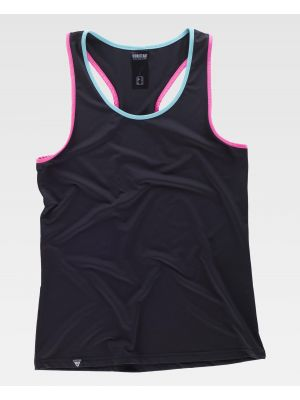 Fitness workteam camiseta deportiva s7520 de algodon con impresión imagen 2