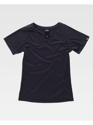 Camisetas de trabajo workteam s7525 de algodon con logo imagen 2