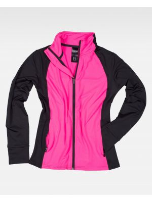 Fitness workteam chaqueta deportiva s7550 de poliéster con impresión imagen 2